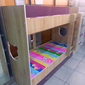 Двухъярусная кровать Мишка