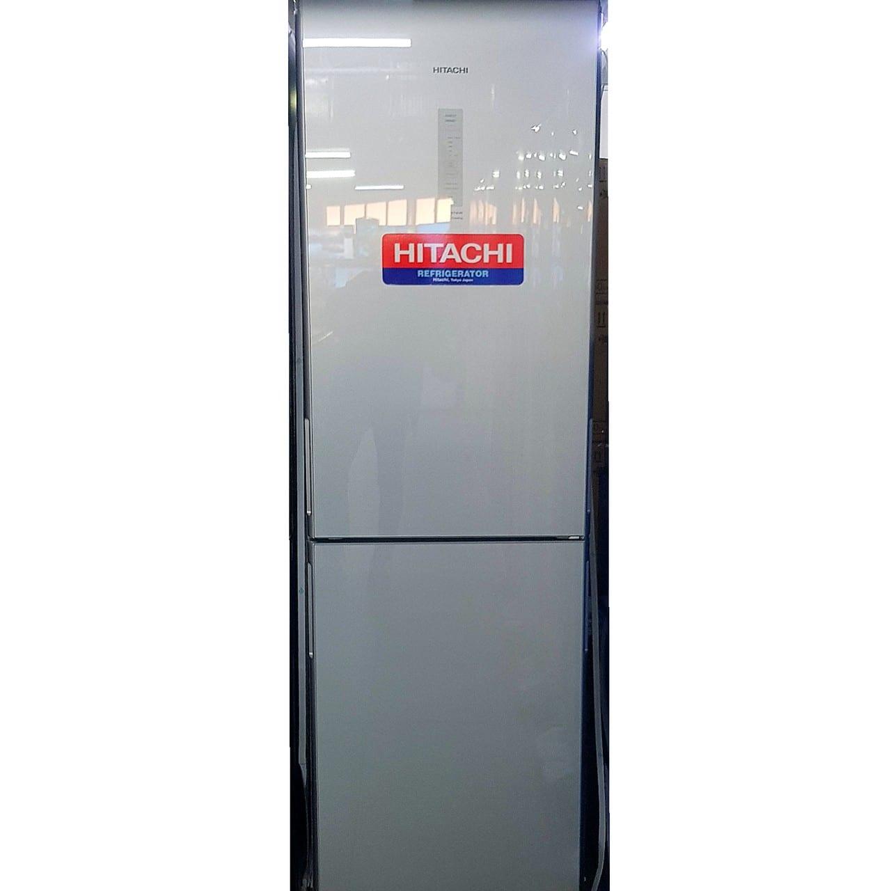 Холодильник двухкамерный Hitachi серый