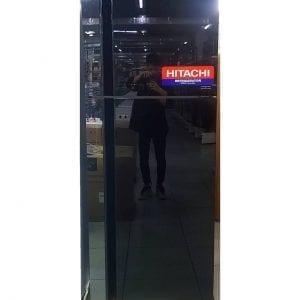 Холодильник двухкамерный Hitachi 450 литров черный